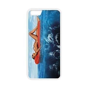 MeowStore Sexy Woman Floating on Sea Water Horror Piranha Under Water Iphone 6 (4.7 inch) Case Cover Phone Case ShellsKimberly Kurzendoerfer
