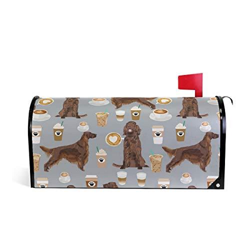 Magnetic Mailbox Cover Irish Setter Dog Wrap- Standard Size 20.8