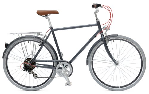 Critical Cycles City Bike Seven Speed Hybrid Urban Commuter Road Bicycle, Dark Gray, 50cm/Small ()