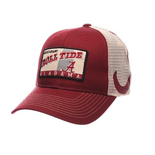 NCAA Alabama Crimson Tide Men's Interstate Trucker Cap, Adjustable, Cardinal