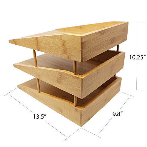 Kagura Bamboo Desk File Tray Office Organizer | Perfect for Sorting or Stacking Letter Documents, Folder or Paper Supplies | 100% Real-Bamboo Eco-Friendly by KAGURA BAMBOO (Image #4)