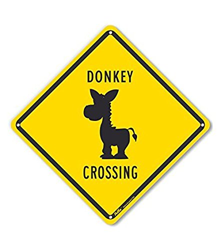 PetKa Signs and Graphics PKAC-0475-NA_10x10Donkey Crossing Aluminum Sign, 10 x 10 10 x 10