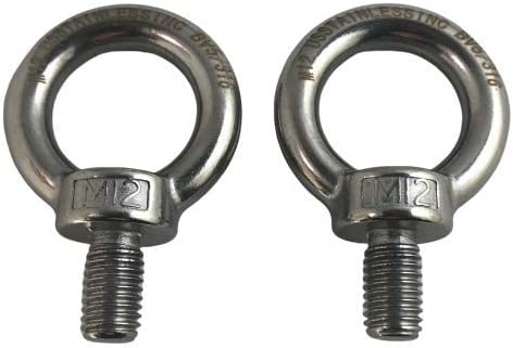 2 Pieces Stainless Steel 316 12mm Lifting Eye Nut M12 Heavy Duty Marine Grade
