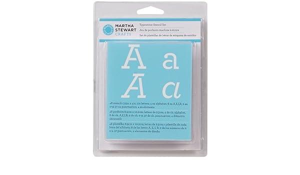 Amazon.com: Martha Stewart Alphabet Stencil, Typewriter 1 pcs sku# 927489MA