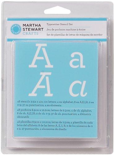 Martha Stewart Alphabet Stencil, Typewriter 1 pcs sku# 927489MA