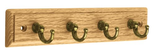 Liberty ROSR4AZ-LAN-D 9-Inch 4 Hook Key Rail/Rack, Oak and Lancaster