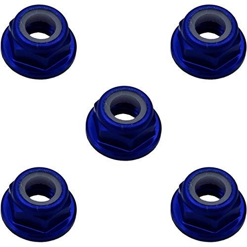 X Spede LNF506 5mm Blue Flanged Lock Nut (5) ()