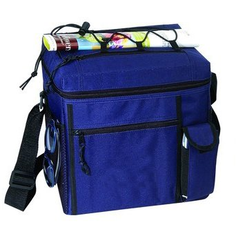 - Navy - 24-pack Picnic Cooler w/Easy Top Access