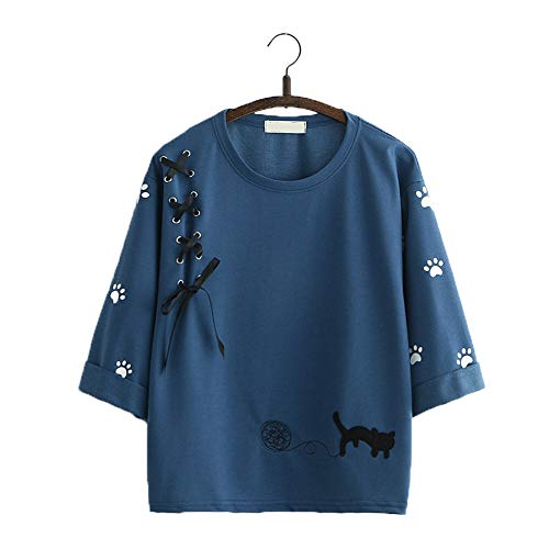 Packitcute Teen Girls Cat T Shirt, Kawaii Embroidery for sale  Delivered anywhere in USA