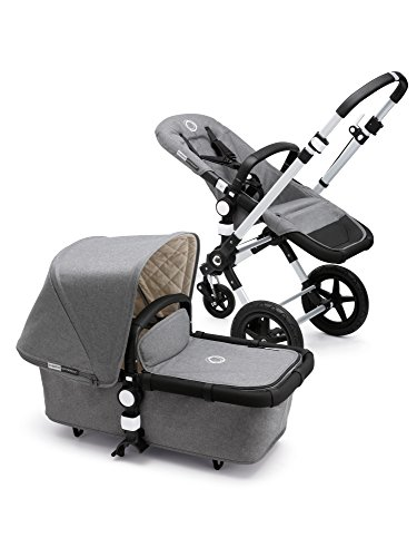 (Bugaboo Cameleon3 Classic Complete Stroller, Grey Mélange - Versatile, Foldable Mid-Size Stroller with Adjustable Handlebar, Reversible Seat and Car Seat Compatibility )