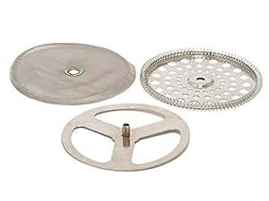 La Cafetiere C21000 - Discos superior e inferior + filtro para cafeteras de 4, 6 y 8 tazas