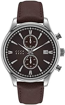 CCCP Sputnik-2 CP-7028-05 43mm Brown Dial Leather Men's Watch