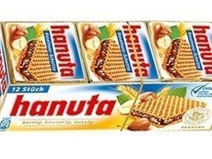 Hanuta Crispy Wafers 72 Pieces (36 X 2) With Total 1500 Grams