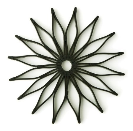 Spice Ratchet 16812 Blossom Multi-Use Silicone Trivet, Black