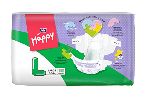 Bella Baby Happy Taped Diapers Large Size 16 Pieces
