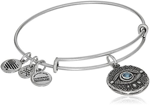 Alex and Ani Evil Eye Bangle Bracelet, Rafaelian Silver, Expandable
