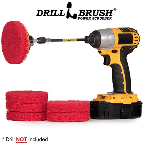 Drill Scrubber - Drill Brush Power Scrubber Pads - Bathroom - Drill -