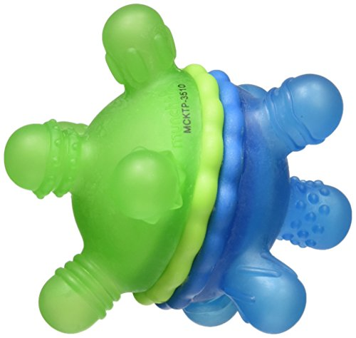 Munchkin Twisty Teether Ball - Green & Blue