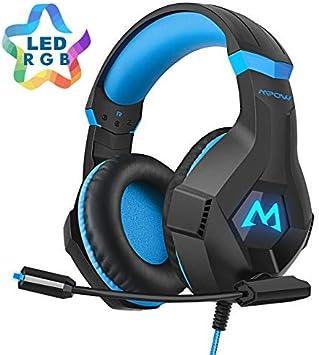 Mpow EG9 Auriculares Gaming PS4 RGB,Sonido Envolvente, Auriculares ...