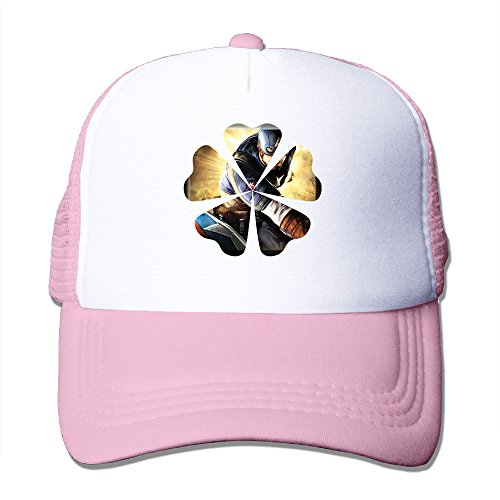 [Elnory America Movie Captain Funny Trucker Hat Pink] (Peter Pan Cast Costumes)