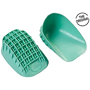 "Tuli's Heavy Duty Heel Cups ""Green"" – Pro Heel Cup Perfect for Plantar Fasciitis & Heel Protection – Large (Over 175lbs)"