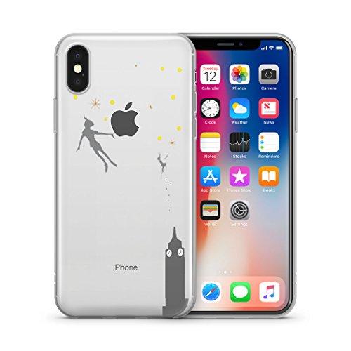 Adesivi Murali Peter Pan.Disney Little Mermaid Ariel Peter Pan Snow White Aladdin Jasmine Clear Case For Apple Iphone X Iphone 10 Peter Pan