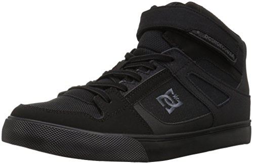 DC Boys' Pure HIGH-TOP EV Skate Shoe, Black, 6 M US Big Kid ()