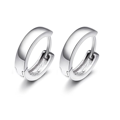 ER-20107C1 New Style Silver Europe U-Shaped Earring (Clutch Cristal)