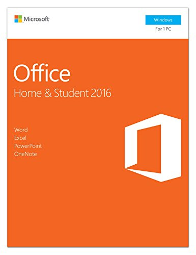 Software : Microsoft Office 2016 Home & Student