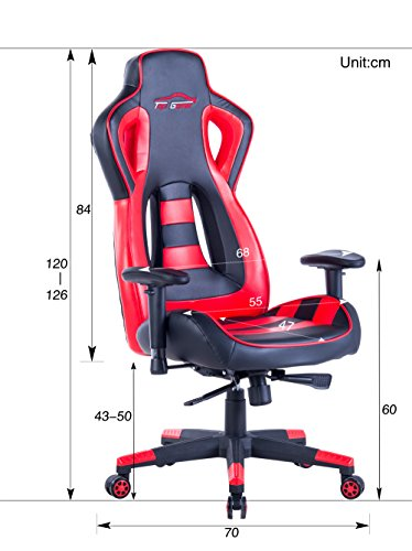 ... Top Gamer Gaming Chair PC Racing Computer Chairs(Red/Black) Top Gamer  ...