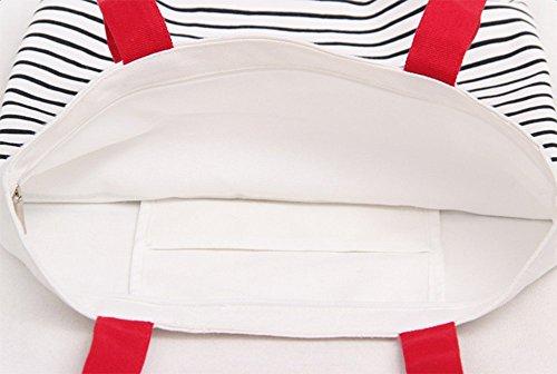 casual moda corpo viaggio donne Red 36 multi Red da 38cm messenger superiore tasca maniglia per croce borsa Leisial borsetta spalla borse Tela scuola PfwXYX