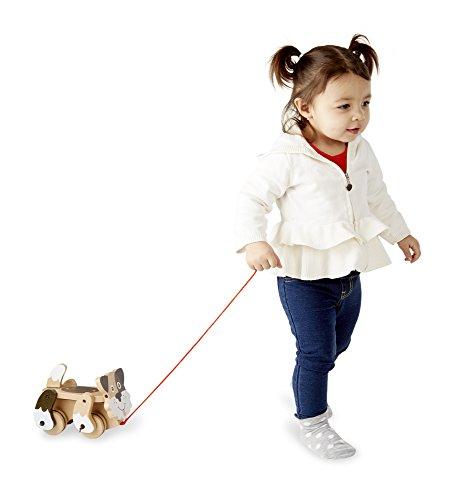 41l%2BWmsTLEL - Melissa & Doug Playful Puppy Wooden Pull Toy for Beginner Walkers