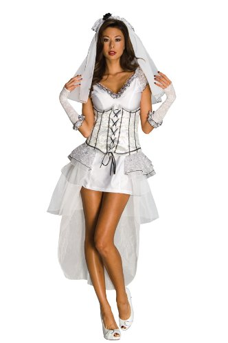 Secret Wishes  Gothic Mistress Costume, White, Large
