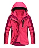 MOERDENG Women's Mountain Waterproof Ski Jacket Outdoor Windproof Snow Jacke