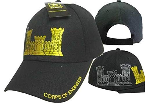 K's Novelties U.S. Army Corps of Engineers Black Shadow Embroidered Cap Hat (TOPW)]()