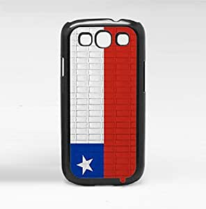 Chile Flag Red White and Blue with Brick Pattern Background Hard Snap on Phone Case Cover Samsung Galaxy S3 I9300