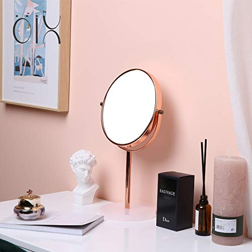 - Makeup Mirrors Wall-Mounted Mirrors Mirror Cosmetic Mirror 3x Zoom, 8 inch Make Up Mirror Pedestal Table Mirror for Bathroom Bedroom Shaving Mirror Cosmetic Vanity Mirror Double Sided Chrome x 3 Magni