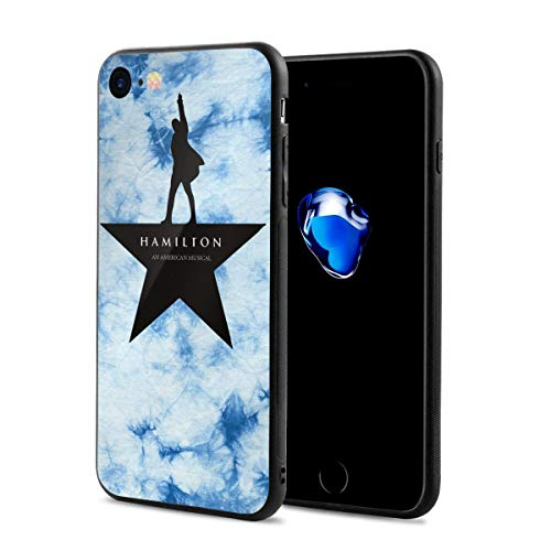 ander Hamilton Musical Logo iPhone 7 Case, iPhone 8 Silicone Case Gel Rubber Slim Fit Soft Cover Case Full Body Protection for iPhone 7/iPhone 8 (4.7