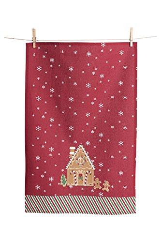 KAF Home Holiday Kitchen Towel, Gingerbread, Set of 2, 100% Cotton & Machine (Gingerbread Towel)