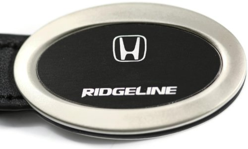 Honda Ridgeline Black Oval Leather Key Fob Authentic Logo Key Chain Key Ring Keychain Lanyard DanteGTS
