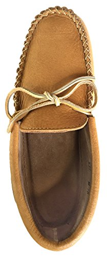 Laurentian Chief Mens Moosehide Leather Loafer Moccasin Shoes