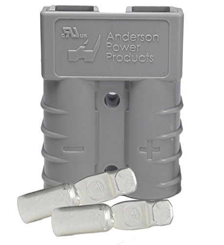 Anderson Power Products SB50 Connector Kit, 50 Amps, Gray Housing, w/10 12 AWG, 6319 ()
