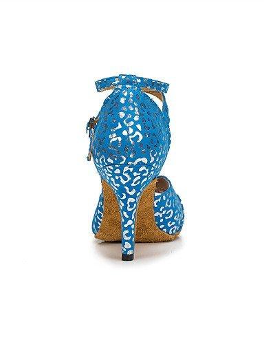 ShangYi Chaussures de danse(Bleu / Blanc) -Personnalisables-Talon Aiguille-Flocage-Latine / Moderne , white-us6 / eu36 / uk4 / cn36 , white-us6 / eu36 / uk4 / cn36