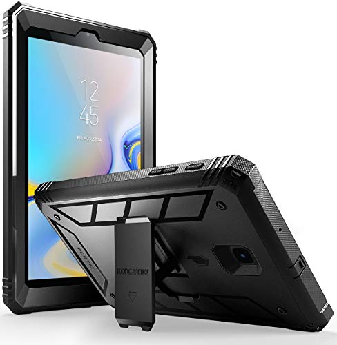 Galaxy Tab A 8.0 2018 Case, Poetic Revolution [Kick-Stand][Built-in-Screen Protector] Full-Body Rugged Heavy Duty Case for Samsung Galaxy Tab A 8.0 (2018) SM-T387 Verizon/Sprint/T-Mobile - Black