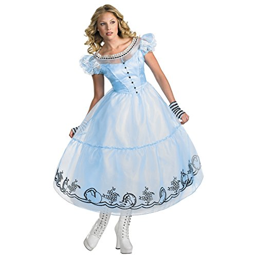 9 Costume Tim Burton (Deluxe Alice Adult Costume - Medium)