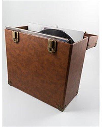 GPO SWB18BRO 12 IN Vinyl Record Case Brown