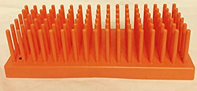 "Full-View Series 207 Orange Test tube Support Diameter 10-13, Tubes 80, Drying Pins 102, 9"" x 3 1/2"" x 2 5/8"""