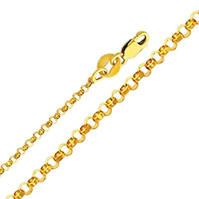 14k Yellow Gold Religious Saint Christopher Medal Pendant with 1.6mm Cable Chain Necklace