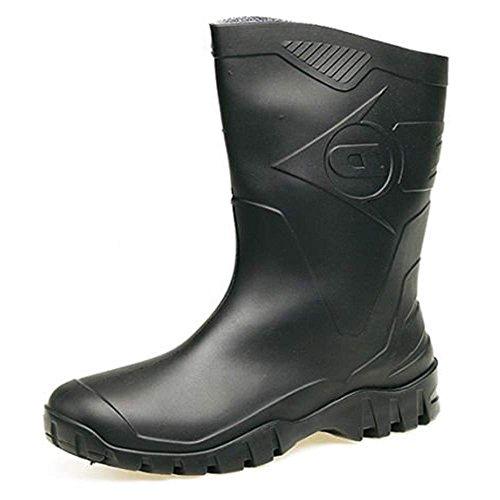 Bottes pour noires en au Dunlop mollet femmes caoutchouc Wellington amples FURId