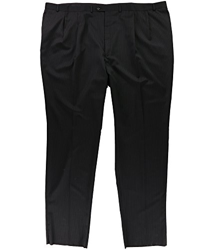 RALPH LAUREN Mens Pinstripe Dress Slacks Black 54x40 -